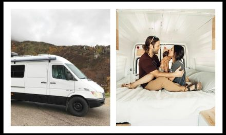Baby doesn't stop couple from living in a Sprinter Van conversion