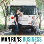 This man runs a successful business while also living in a schoolbus