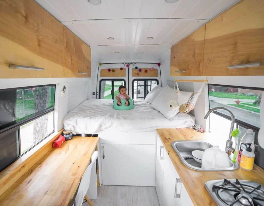 Family Raises Baby While Traveling Fulltime In A Sprinter Van Conversion