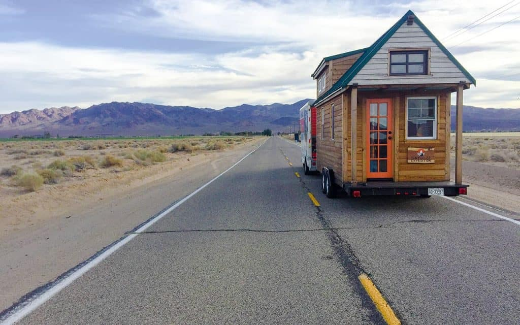 One couple is towing their tiny home on wheels across the country to raise awareness of the legal issues tiny homes face
