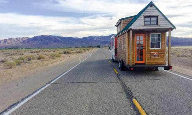 Why one couple is dragging their tiny home across the US