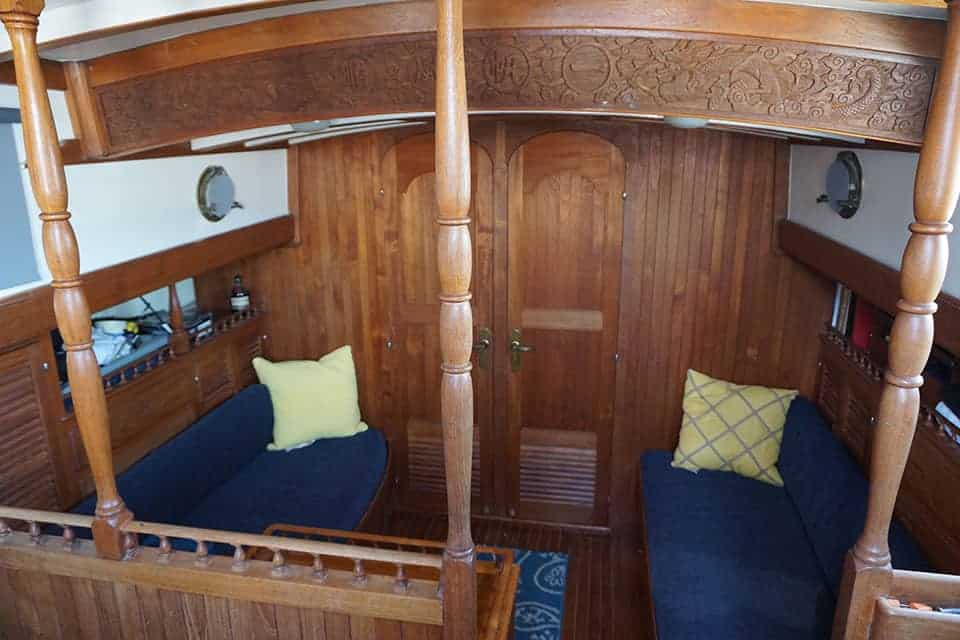 Our liveaboard sailboat doesn't have much space, so you really have to downsizing when living on a sailboat