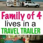 Family in Travel Trailer