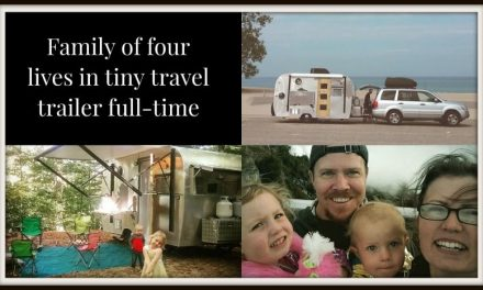 Adventurous family of 4 living in travel trailer