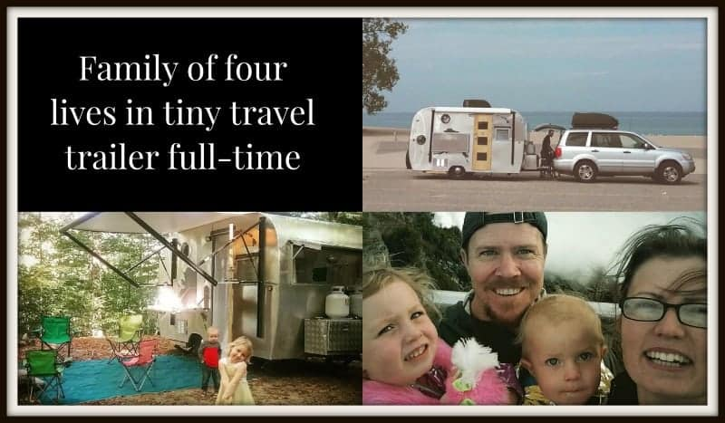Family on amazing adventure living in tiny travel trailer
