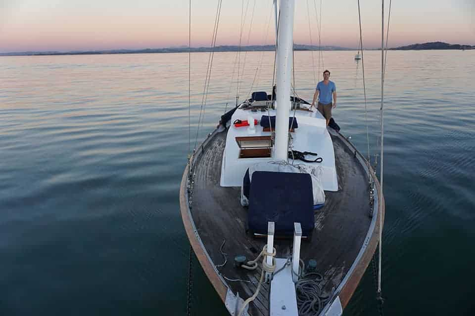 The pink and blue jobs of sailboat life