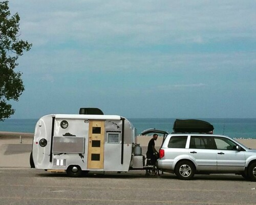 This family of four travels in a tiny travel trailer full time