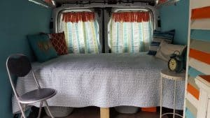 79 year old woman travels in Ford Transit camper