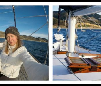 My first ocean sailing trip! Exhilarating, beautiful, wild