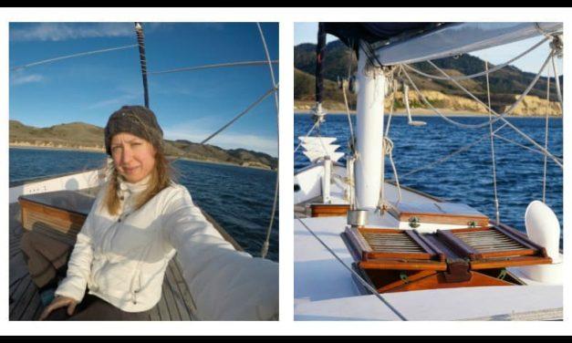 My first ocean sailing trip! Exhilarating, beautiful, wild