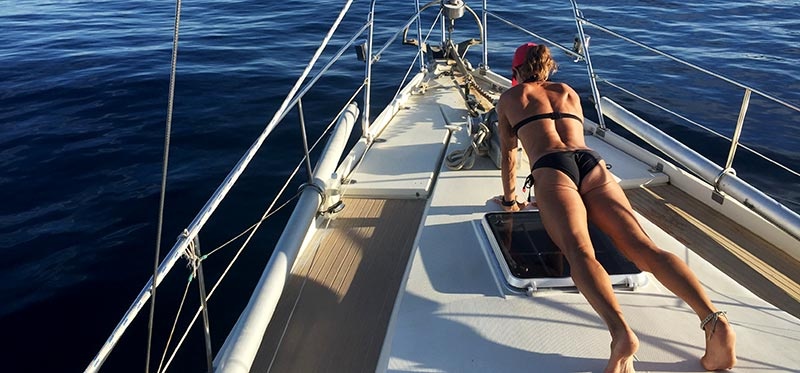 Full body workout plan for a sailboat