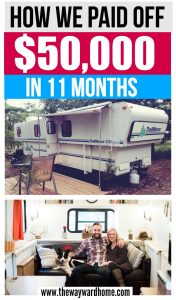 Couple pays off $50,000 in debt by living in a cheap RV