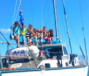 Family of 13 on a big adventure aboard 43′ sailing yacht