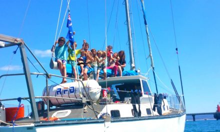 Family of 13 on sailing adventure aboard 43′ boat