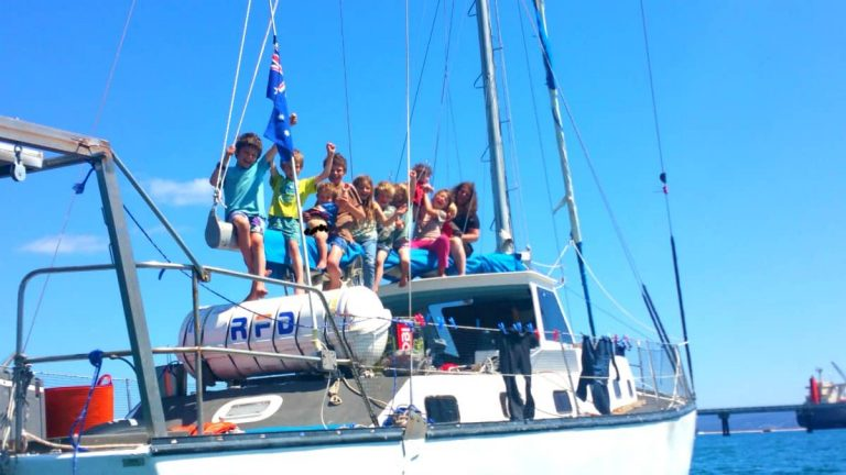 Find out how family of 12 lives on 43' sailboat