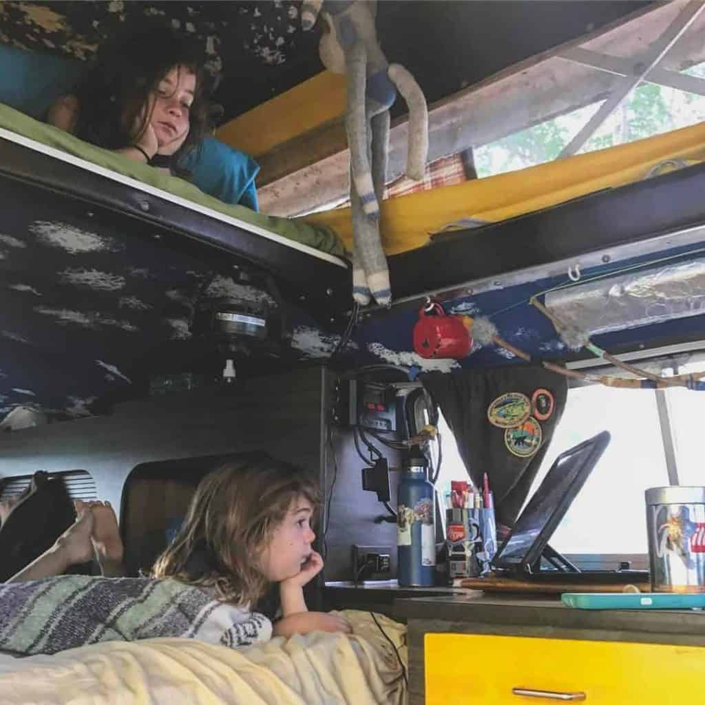 Van dwelling with kids doesn't come without challenges, as one family of five found out