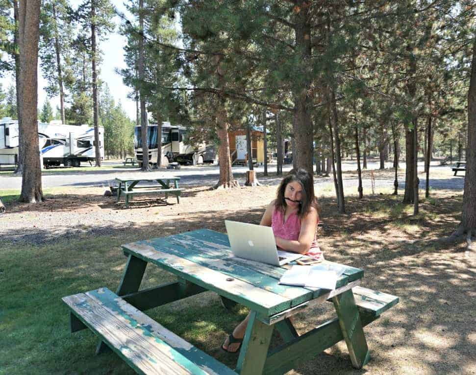 You can find remote work you can do outside while also fulltime RVing