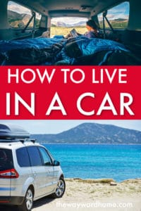 How to live in a car