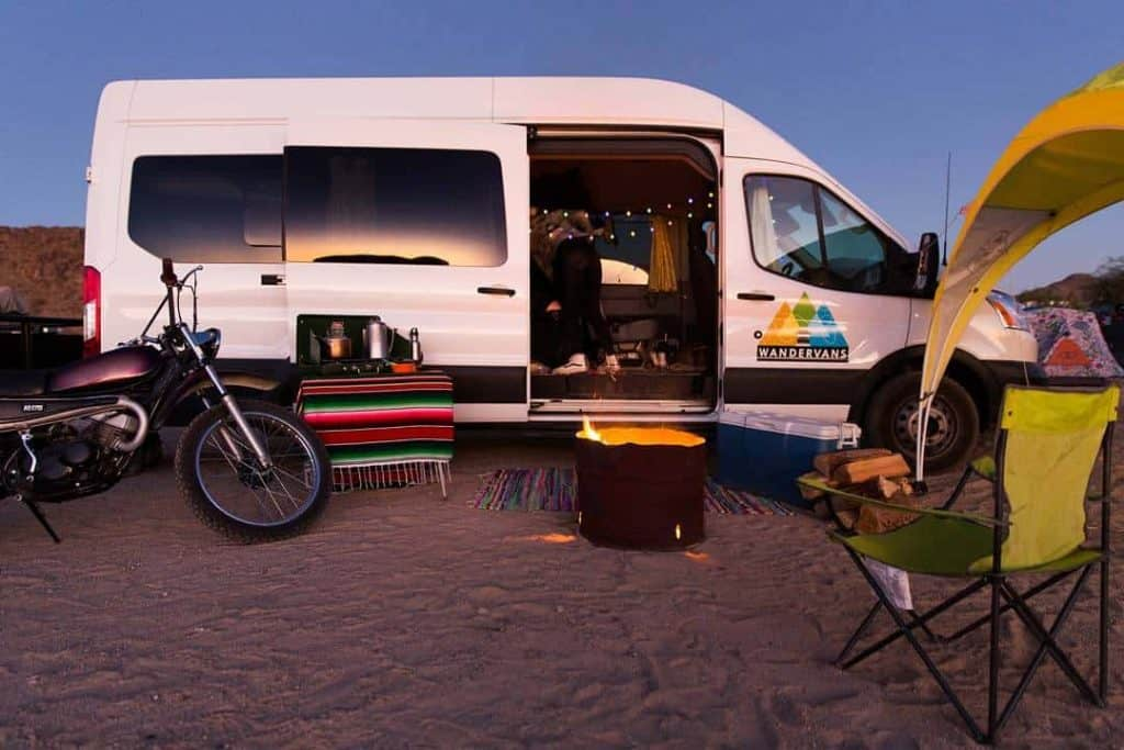 This camping van is from Wander Vans, and can be rented out of Boise or Salt Lake City