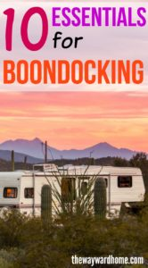 RV Boondocking: 10 essentials for camping for free