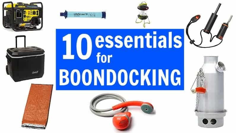 10 essentials for RV boondocking to keep free camping comfortable