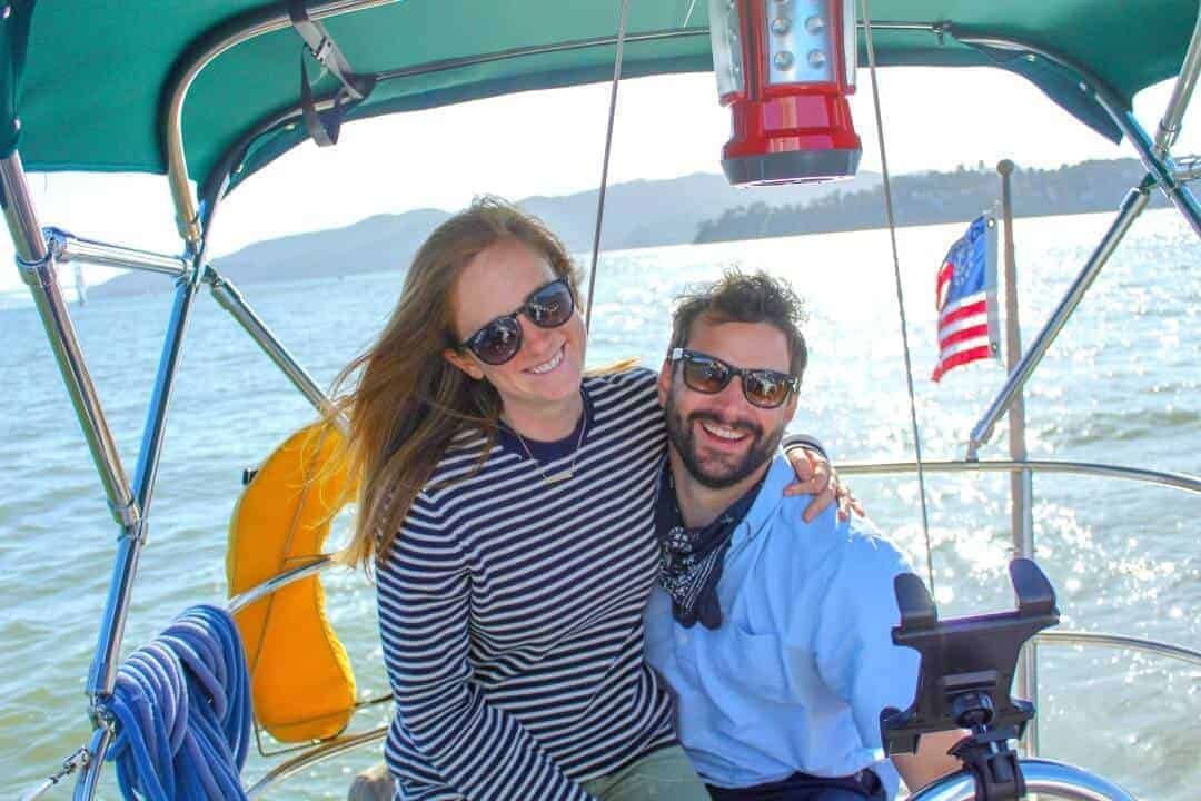 Audrey and Garrett gave up a San Francisco apartment to live on a sailboat