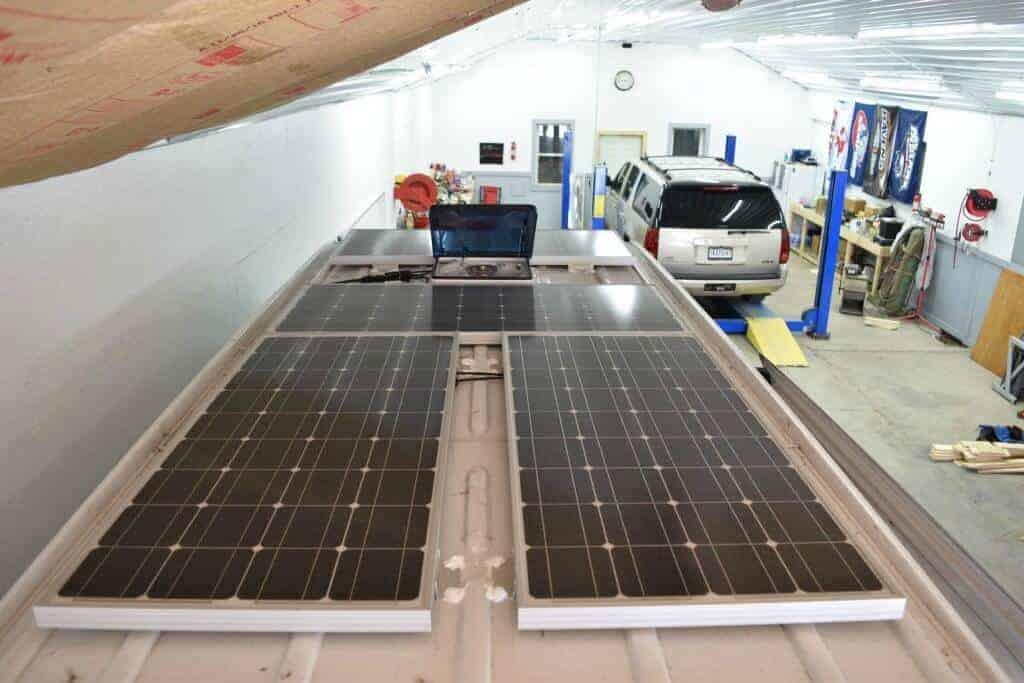 The solar panels on this Sprinter van conversion were the most expensive part