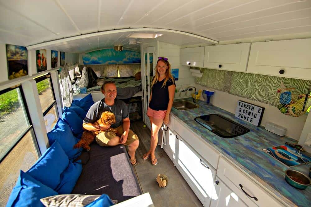 The Underwoods have been traveling in their renovated skoolie for one year now