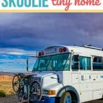 This couple is traveling in a 20 year old skoolie tiny home