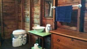 Composting toilet in a tiny home