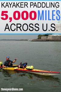 Kayaker paddling 5,000 miles across the US