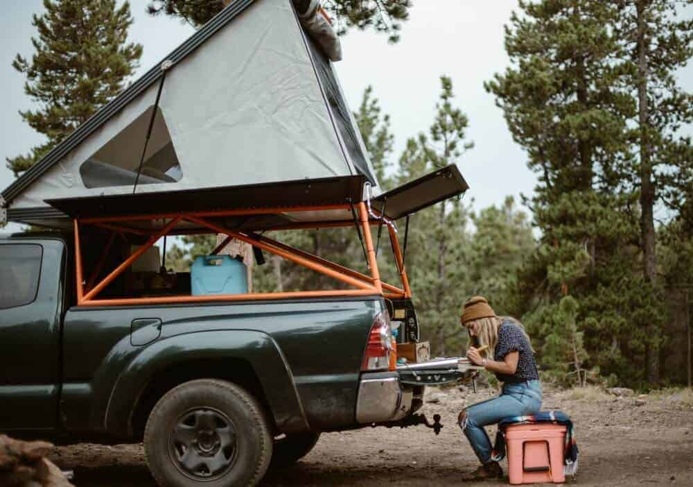 Woman crafts jewelry from the back of her truck camper
