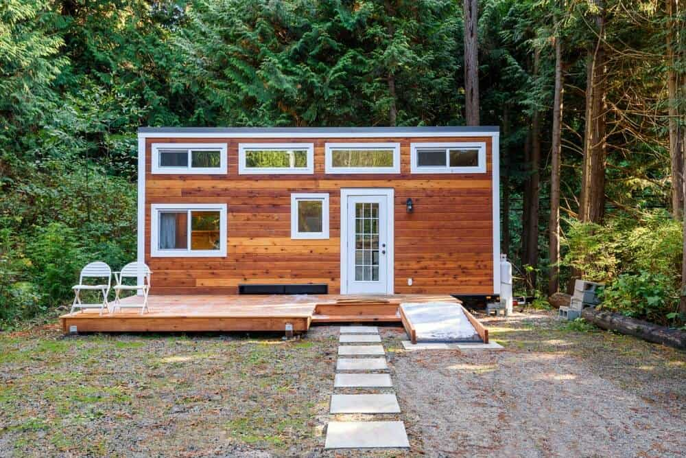 Tiny house design with plenty of windows