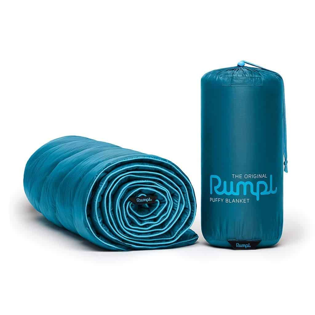 This Rumpl Puffy blanket will keep you warm and cozy in your campervan