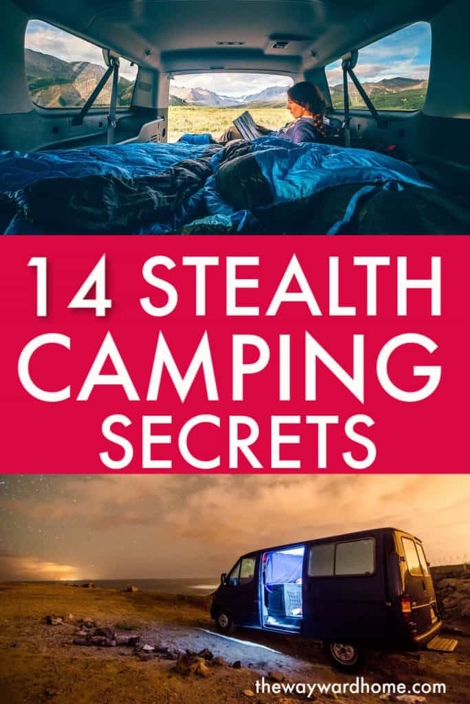 14 secrets to stealth camping