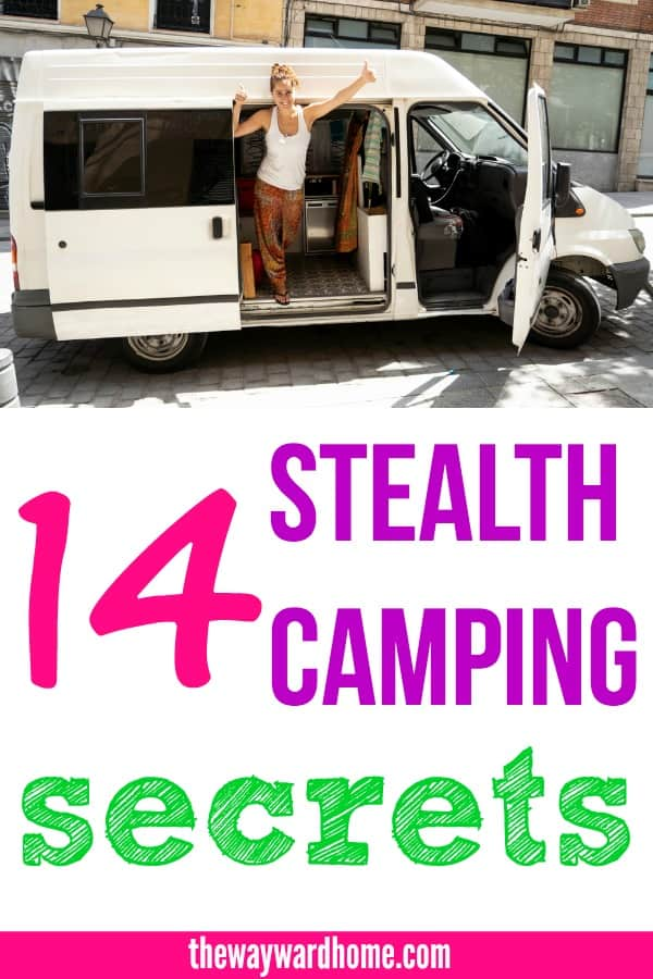 14 stealth camping secrets