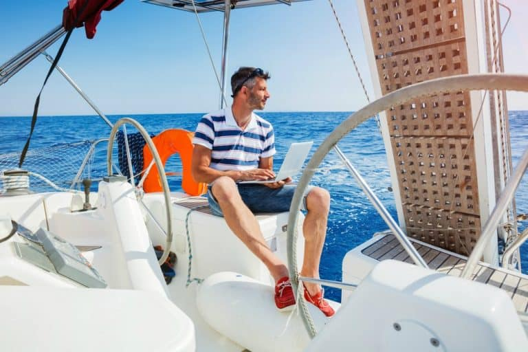 how to start working remotely from a sailboat, van or RV