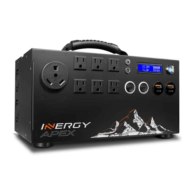The Inergy Apex is the best powerful solar generator for camping and RVing