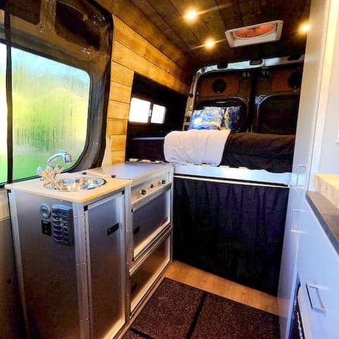 Van Kitchen Conversion Kit inside a cargo van