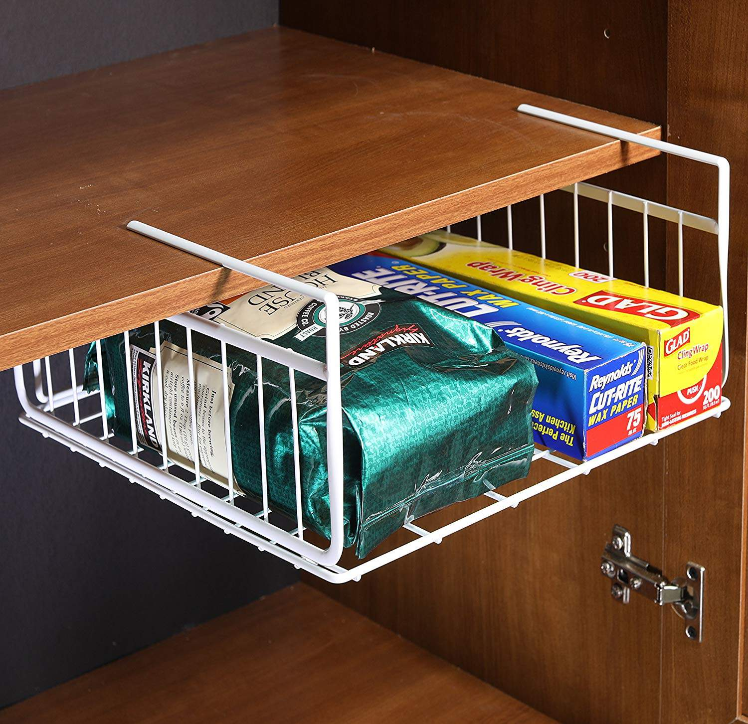 These under shelf baskets instantly add more storage space to your RV