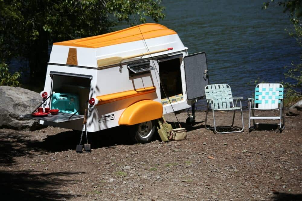 The American Dream Small Camper is a camper and a boat