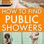 Wie man öffentliche Duschen findet, wenn man in einem Van lebt