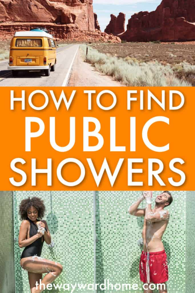 How to find public showers when living in a van