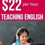 How to make $22 per hour teaching English online