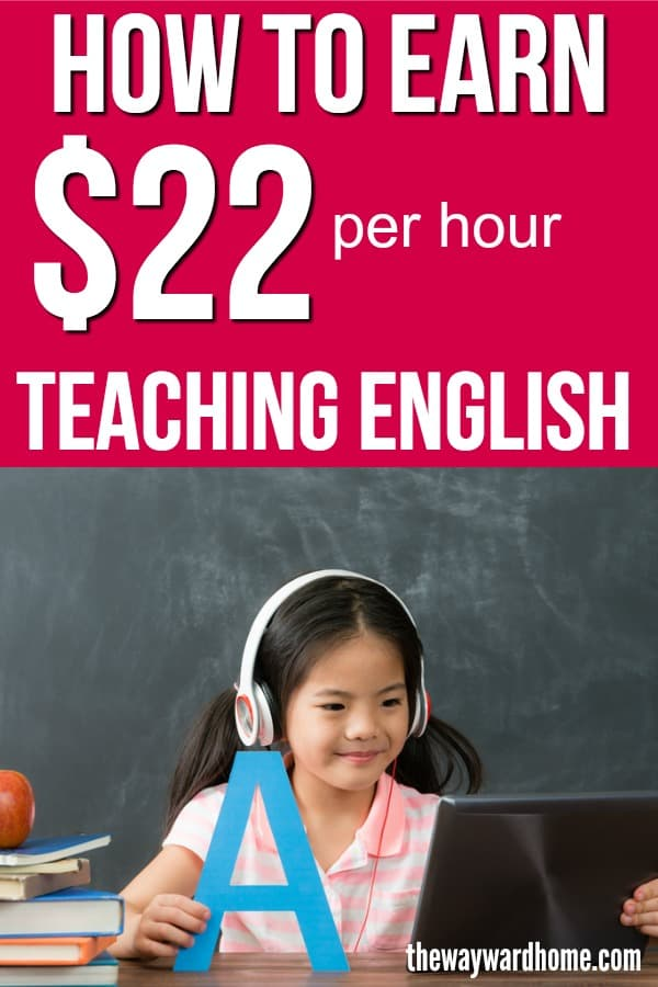 How to make $22 per hour teaching English online