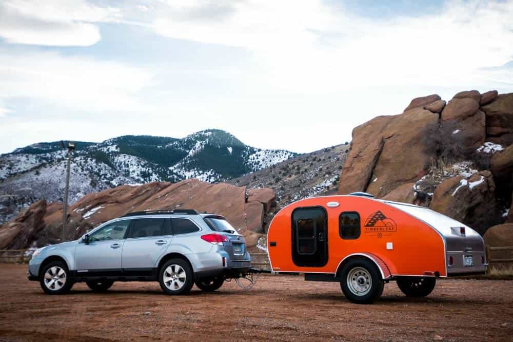 The Timberleaf small camping trailer is a classic teardrop