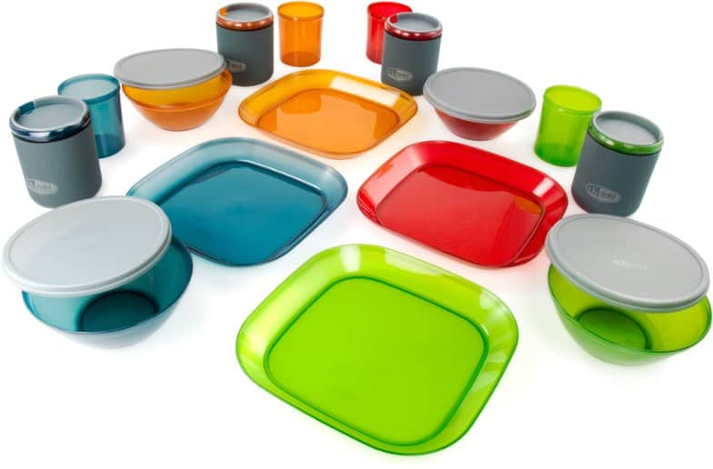 camping dinnerware for a campervan kitchen