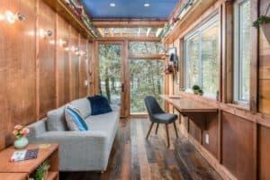 The living room of the Cornelia Tiny House
