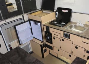 Hawk Camper's kitchen area by Four Wheel Campers