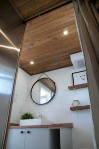 Bathroom view of the Minimaliste tiny home